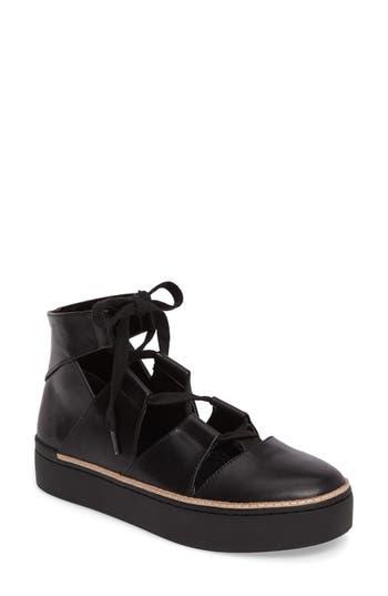 M4D3 Savanah Ghillie Platform Sneaker, Black