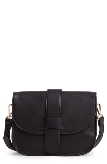 Sole Society Halima Faux Leather Flap Crossbody -