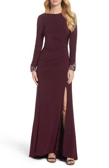 Eliza J Embellished Jersey Gown