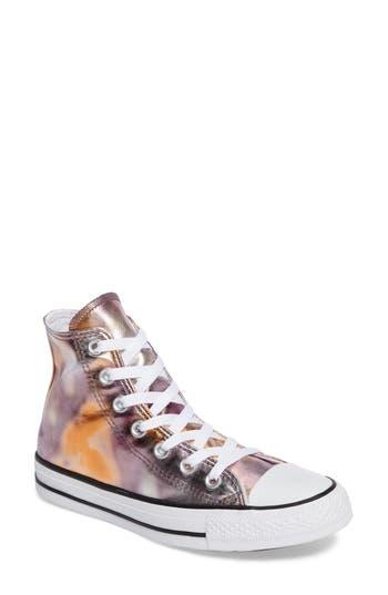 Converse Chuck Taylor All Star Metallic Hi Sneaker, Pink