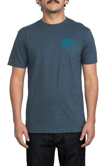 Rvca Electro Flipped Box Graphic T-Shirt, Blue