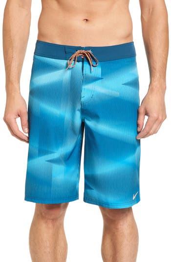 Nike Print Board Shorts, Blue/green