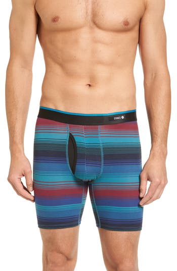 Men's Stance Nevermind Stripe Stretch Cotton Boxer Briefs