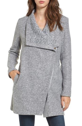 Women's Bb Dakota Maggie Brushed Fleece Drape Collar Coat