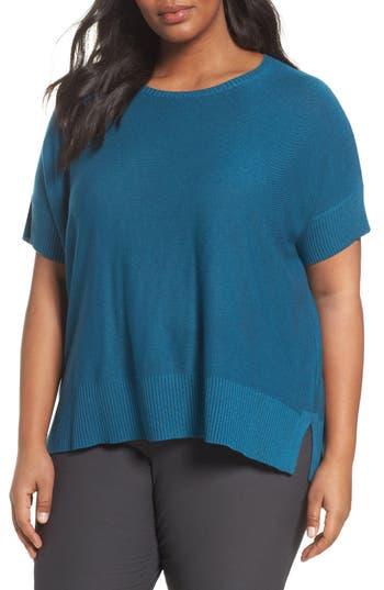 Plus Size Eileen Fisher Tencel & Merino Wool Top, Blue