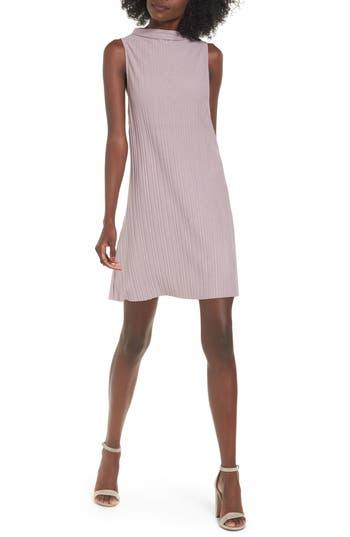 Leith Plisse Pleat Shift Dress, Purple