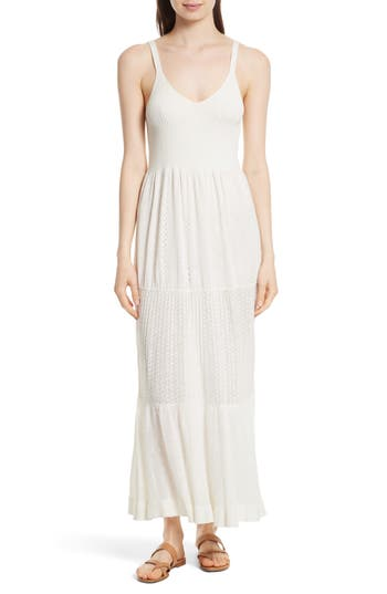 Women's La Vie Rebecca Taylor Knit Maxi Dress, Size X-Small/Small - Ivory