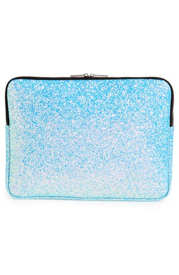 Skinnydip Glitter 15-Inch Laptop Sleeve - Metallic