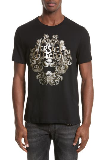 Versace Collection Logo Graphic T-Shirt, Black