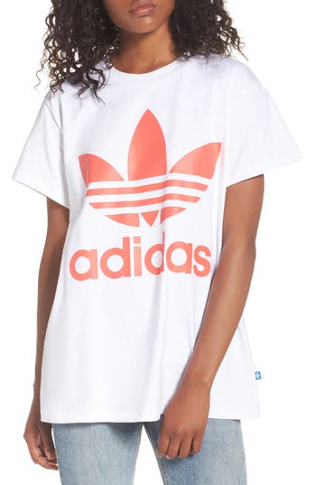 Adidas Originals Trefoil Logo Tee, White