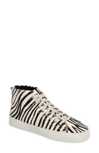 Rebecca Minkoff Zaina Too Genuine Calf Hair Sneaker, White