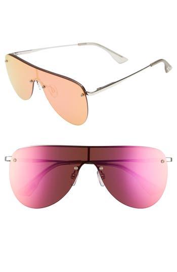 Le Specs The King 5m Shield Sunglasses - Silver
