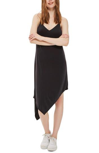 Topshop Asymmetrical Slipdress, US (fits like 0) - Black