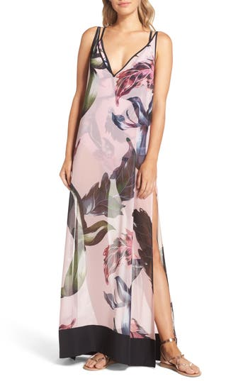 Ted Baker London Edela Eden Print Cover-Up Maxi Dress, Pink