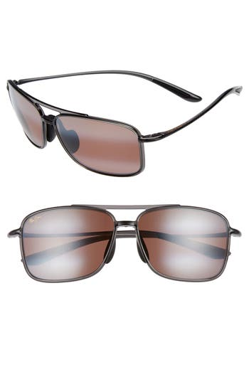 Maui Jim Kaupo Gap 61Mm Polarizedplus2 Sunglasses - Smoke Grey/ Maui Rose