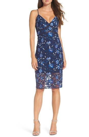Women's Bardot Sapphire Lace Pencil Dress
