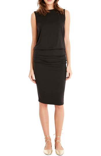 Michael Stars Drape Back Shift Dress, Black