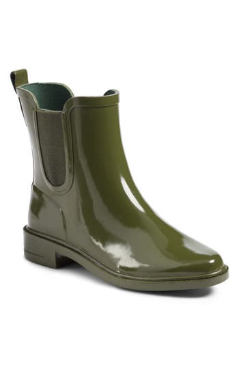 Tory Burch Stormy Chelsea Rain Bootie, Green