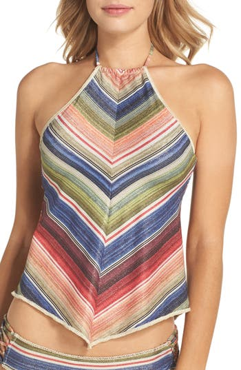 Becca West Village Halter Tankini Top, Purple
