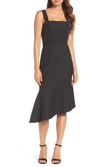 Cooper St Motu Asymmetric Hem Dress, Black