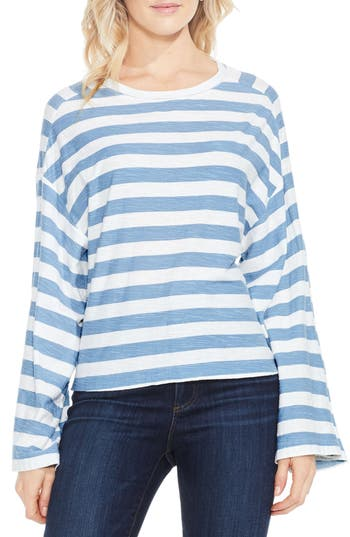 Two By Vince Camuto Lydia Stripe Tee, Blue