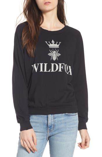 Women's Wildfox Alchemy Junior Sweatshirt, Size X-Small - Black