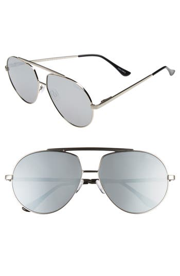 Quay Australia Blaze Aviator Sunglasses - Silver/ Silver