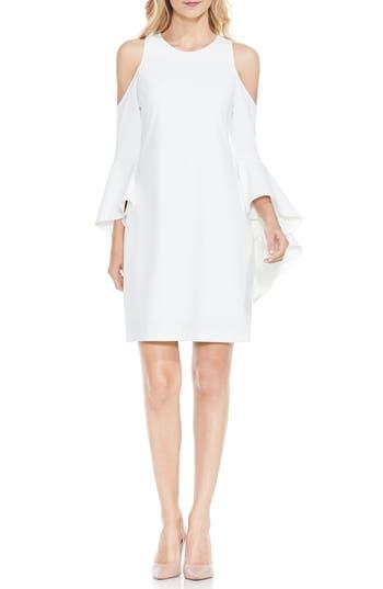 Vince Camuto Cold Shoulder Shift Dress, White