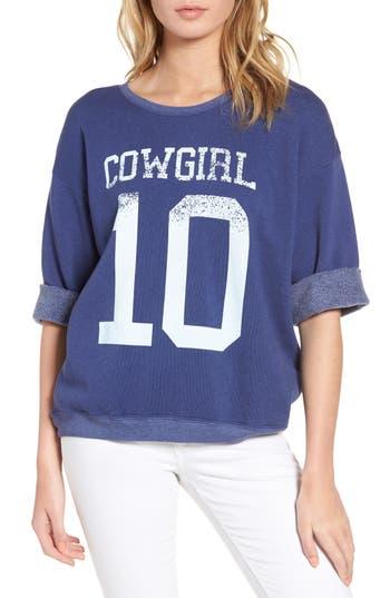 Women's Wildfox Cowgirl Sweatshirt, Size X-Small - Blue
