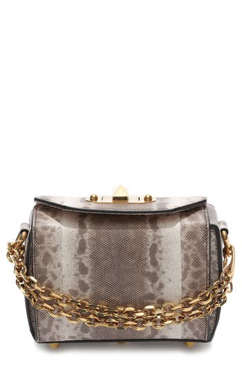 Alexander Mcqueen Mini Box Genuine Snakeskin Bag -