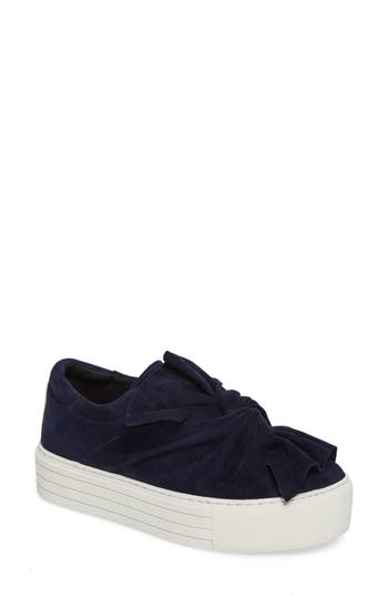 Kenneth Cole Aaron Twisted Knot Flatform Sneaker, Blue