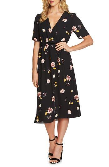 1.state Floral Midi Dress, Black