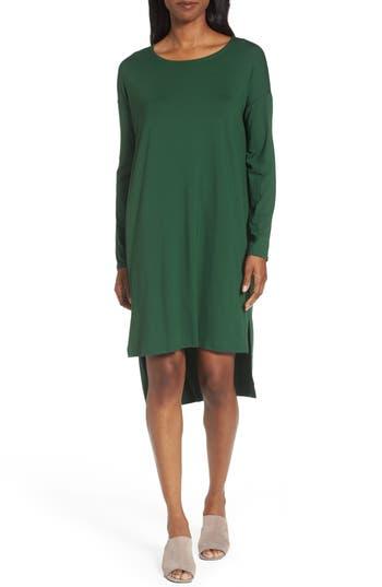 Eileen Fisher High/low Jersey Shift Dress, Green