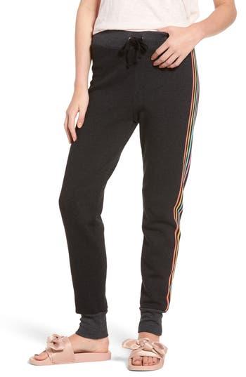 Women's Wildfox '80S Track Star Knox Sweatpants, Size Medium - Black