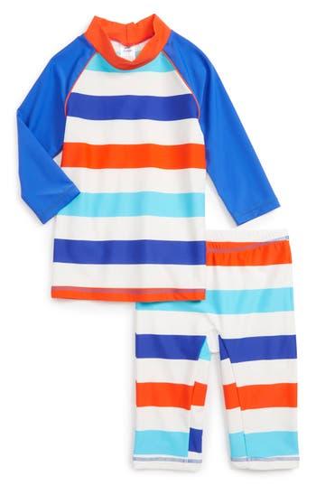 Boy's Mini Boden Surf Suit Two-Piece Rashguard Swimsuit