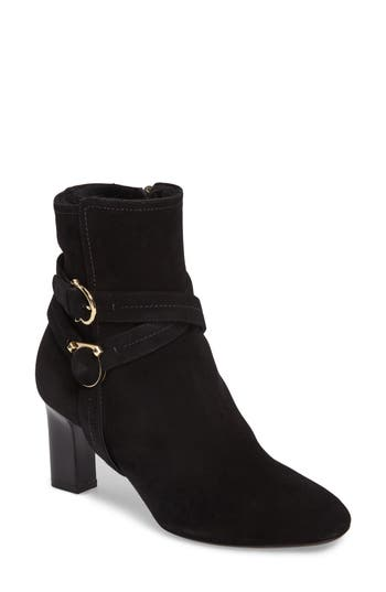 Salvatore Ferragamo Genuine Shearling Lining Bootie B - Black