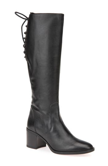 Geox Glynna Knee High Boot, Black