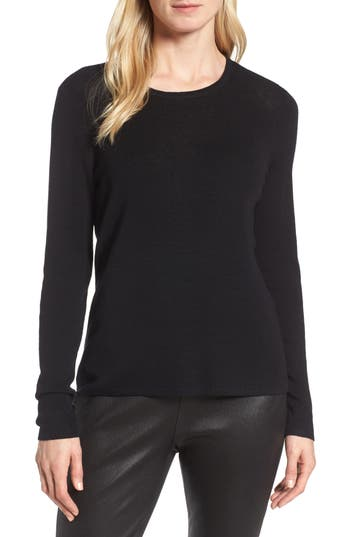 Eileen Fisher Slim Merino Wool Sweater, Black