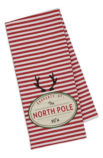 Design Imports North Pole Dish Towel, Size One Size - Red