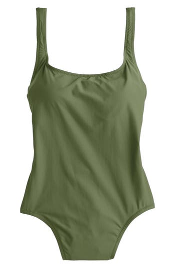 J.crew Tactel Nylon One-Piece Swimsuit, Green