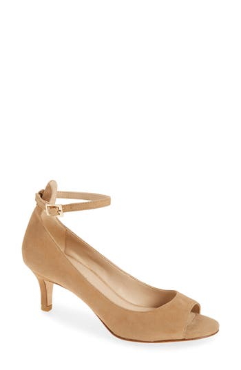 Pelle Moda Bey Open Toe Pump, Brown