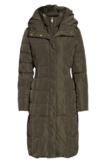 Cole Haan Bib Insert Down & Feather Fill Coat, Green