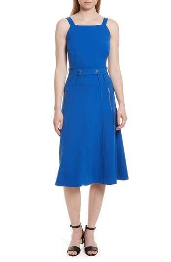 Grey Jason Wu Belted Dress, Blue