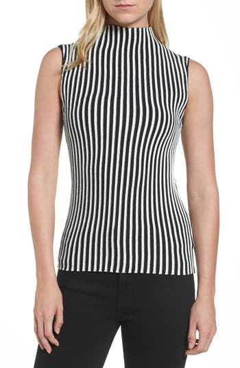 Women's Kenneth Cole New York Stripe Sweater, Size X-Small - White