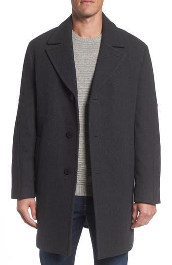 Men's Marc New York Herringbone Wool Blend Car Coat