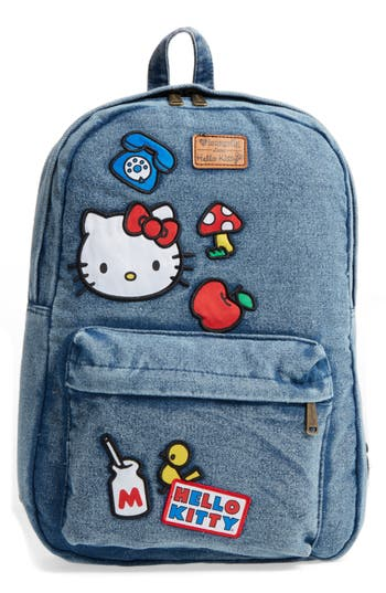 Girl's Loungefly Hello Kitty Patch Denim Backpack - Blue