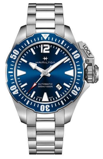 Hamilton Khaki Navy Frogman Automatic Bracelet Watch, 42mm