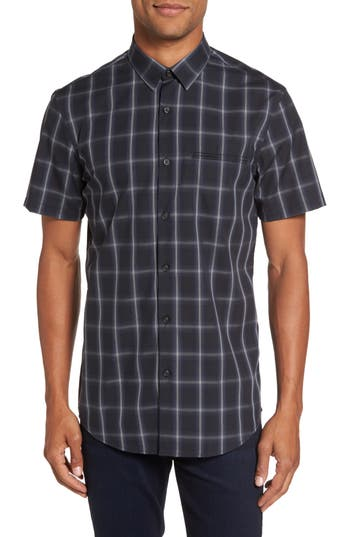 Men's Calibrate Check Short Sleeve Sport Shirt