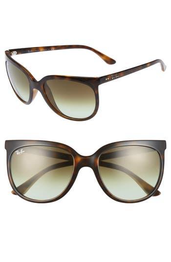 Ray-Ban Retro Cat Eye Sunglasses - Havana/ Green