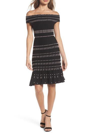 Adelyn Rae Karissa Off The Shoulder Sweater Dress, Black